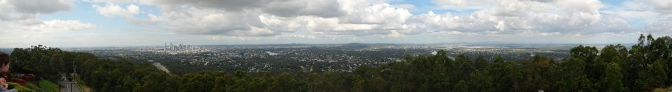 Brisbane z Mount Koo-tha lookout